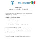 Procédure -Intervention auprès d'un membre