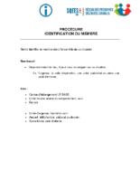 Procédure – Identification du membre